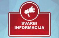 Svarbi informacija