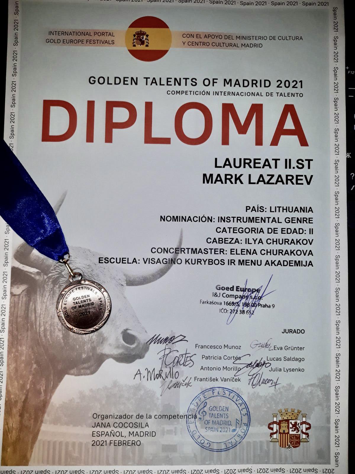 Sveikiname  Marką Lazarevą  ir Sijaną Naidionovą su pasiekimais!